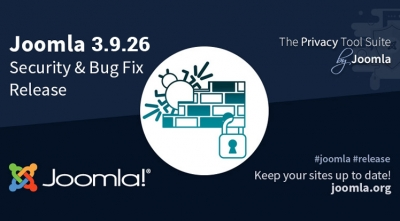 Joomla 3.9.26 Security and Bug Fix Release