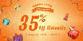 Joomla is 11 Years Old! Celebrate with Us and Get a 35% Storewide