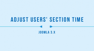 Adjust Users' Section Time in Joomla 3.x