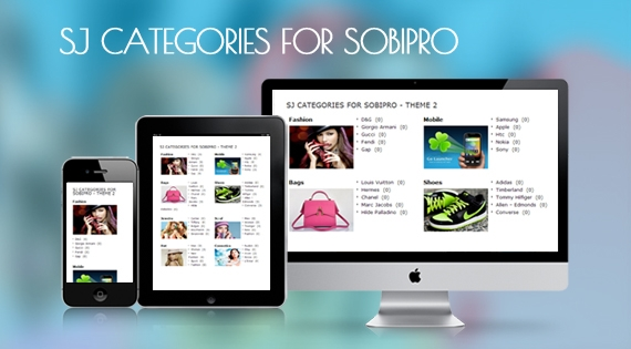 SJ Categories for SobiPro - Responsive Joomla! Module