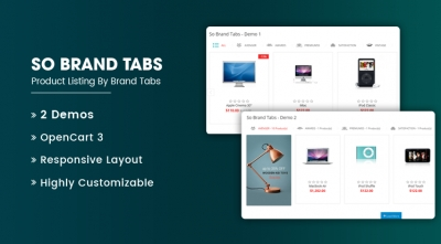 So Brand Tabs - Responsive OpenCart 3 Module