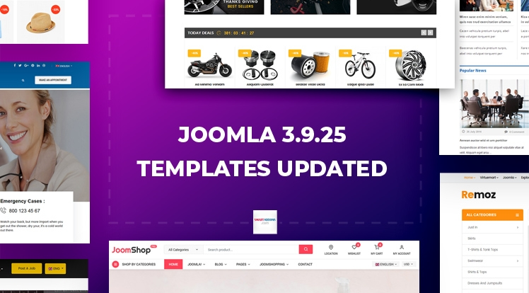 Joomla Templates Updated to Joomla 3.9.25