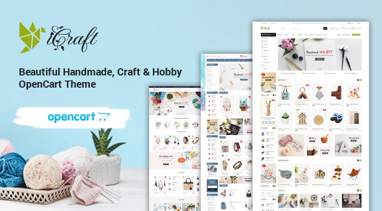 iCraft - Beautiful Handmade, Craft & Hobby OpenCart Theme