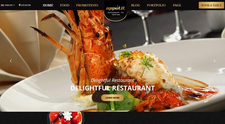 Appetit - Premium Food & Restaurant WordPress Theme