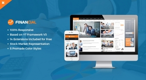 SJ Financial III - Well-structured & Clean Financial News, Magazine Joomla Template