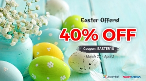 Happy Easter Day 2018 with 40% OFF on Everything