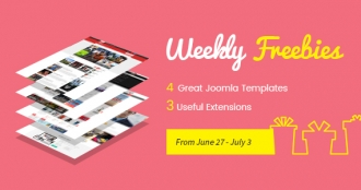Weekly Freebies #3: 4 Premium Joomla Templates and 3 Extensions