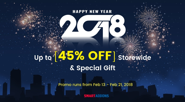 Lunar New Year Offer: Up to 45% OFF Everything & Special Gift