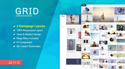 SJ Grid - An Elegent News/Photography Joomla Template