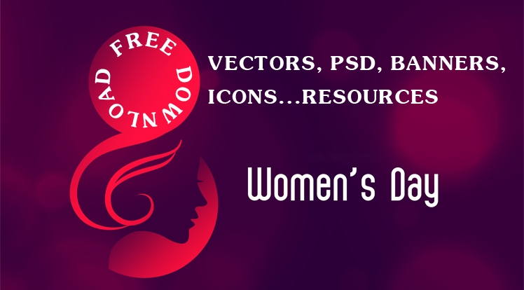 Free Professional Vectors, PSD, Banners, Icons Resources for Women's Day 2020
