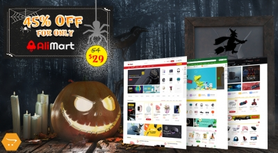 HOT Halloween Deal: 45% OFF for AliMart - Super Item OpenCart 3 Theme!
