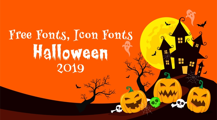Best Free Halloween Fonts, Icon Fonts 2019
