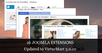 Check out 16 VirtueMart 3.0.10 Extensions Updated