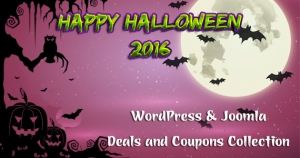 Best Halloween 2016 Deals, Coupons and Discounts for Joomla & WordPress