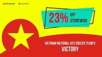 Celebrate Vietnam storming to AFC U23 Championship Final: Flash Sale 23% OFF Storewide