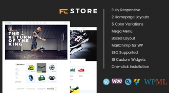 SW FcStore - A Trending Design for WooCommerce WordPress Theme