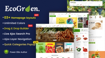 Ss EcoGreen - Multipurpose Organic, Fruit, Vegetables Shopify Responsive Theme