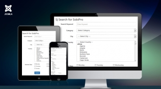 Sj Search for SobiPro - Responsive Joomla! Module
