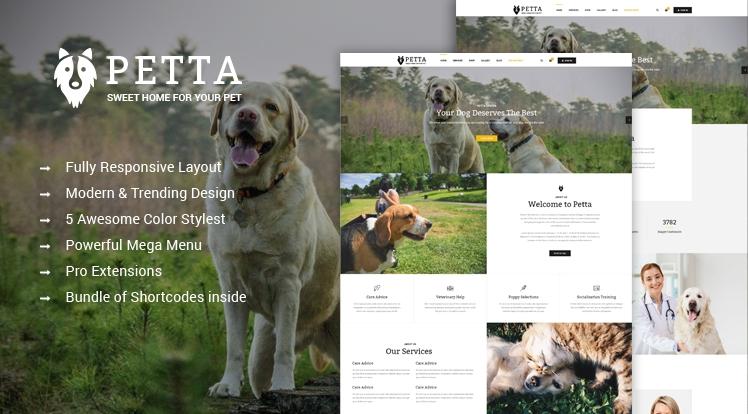 SJ Petta - Responsive Joomla Pet Care Service Template