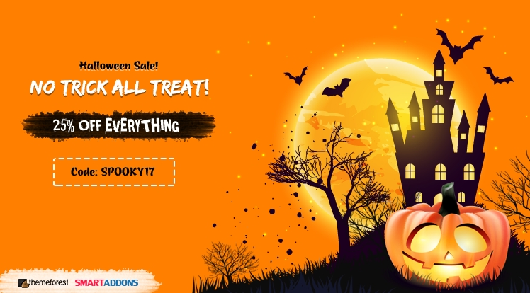 Halloween Sale! 25% OFF Discount Coupon Code for Everything