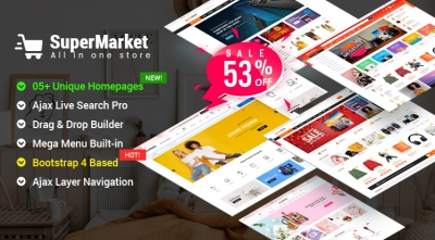 Design #5 Available in SuperMarket Shopify Theme - Incredible 53% OFF Offer