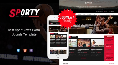Sj Sporty - Flexible Sports News Joomla Responsive Template