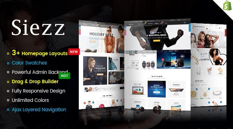 Ss Siezz - Advanced Drag & Drop Responsive Shopify Theme