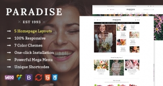 SW Paradise - An Elegant Flower Store WordPress WooCommerce Theme