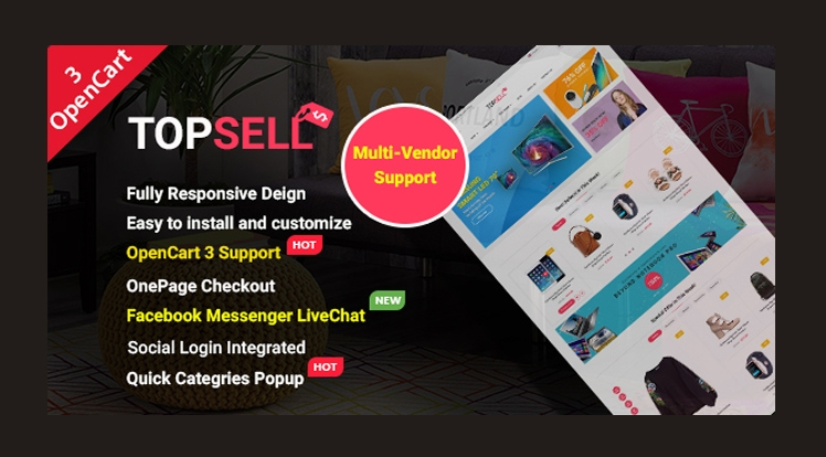 TopSell - Top Multipurpose eCommerce Marketplace OpenCart 3 Theme
