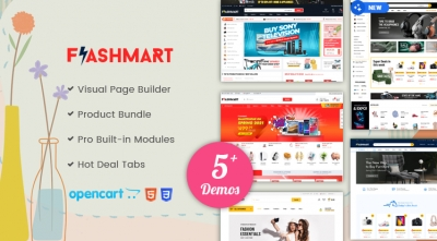 HOT UPDATE | Design #5 Added in FlastMart Supermarket OpenCart Theme