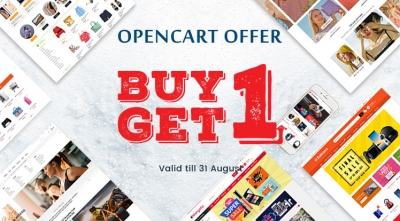 Buy One OpenCart Theme, Download One for Free. Limited Time!