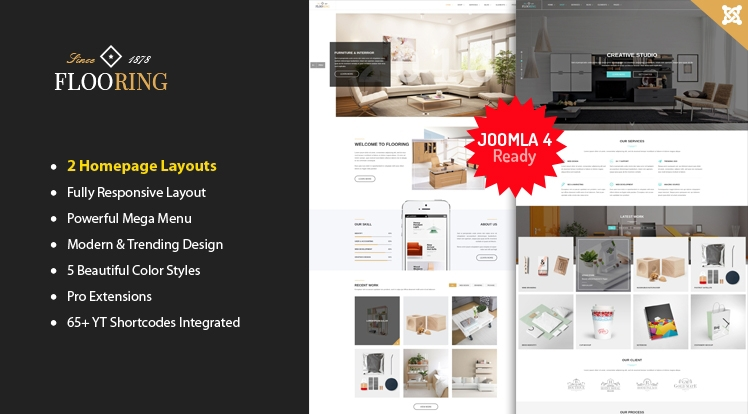 SJ Flooring -  Responsive Joomla Interior Template