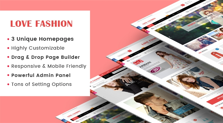 Ss LoveFashion - Responsive Multipurpose Drag & Drop Builder Shopify Theme