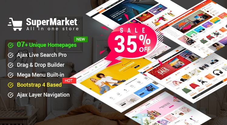 Design #7 Available in SuperMarket Shopify Theme - Save 35% Off Before the 8th Demo Release