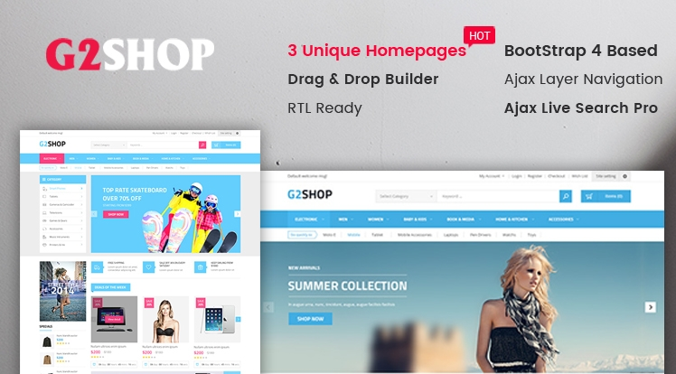 Ss G2Shop - Multipurpose Sectioned Bootstrap 4 Shopify Theme