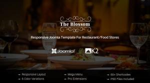 SJ Blossom - Responsive Joomla Restaurant Template