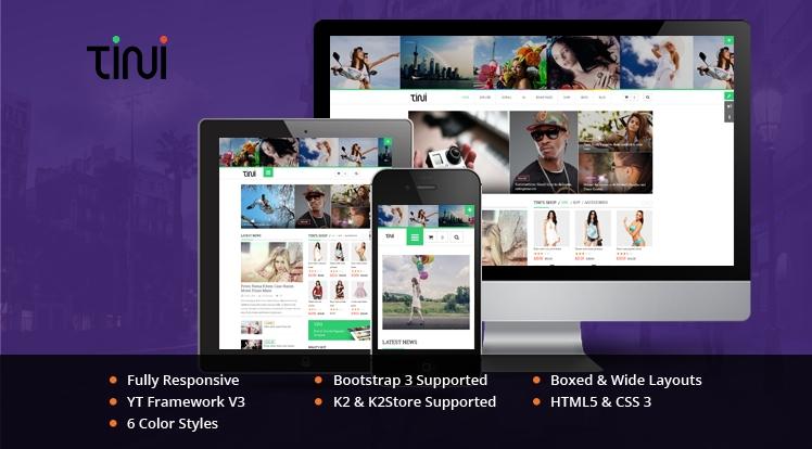 SJ Tini - Responsive Joomla news magazine Template