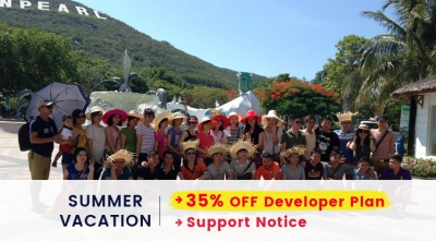 Summer Holiday Vacation Announcement: 35% OFF on Developer Plan
