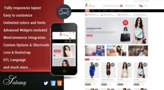 Free Stunning Responsive WordPress Theme for Fashion stores - SW Salamy