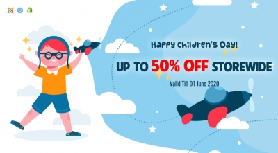 Happy Children's Day 2020! Up to 50% OFF Storewide