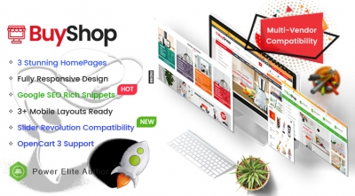 BuyShop - Responsive & Multipurpose OpenCart 3 Theme with Mobile-Specific Layouts