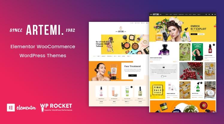 Artemi - Cosmetics Elementor WooCommerce WordPress Theme