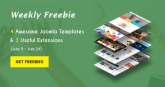 Weekly Freebies #5: Get 4 Premium Joomla Templates & 3 Extensions for Free