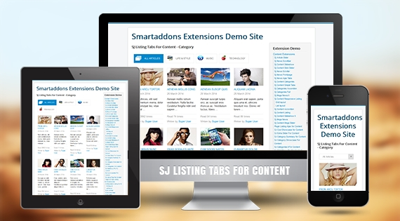 SJ Listing Tabs for Content - Responsive Joomla! Module