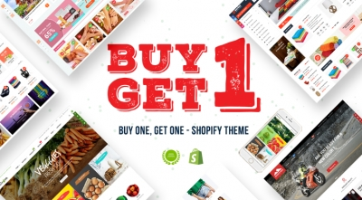 Buy One Get One FREE on Best Shopify Themes 2019