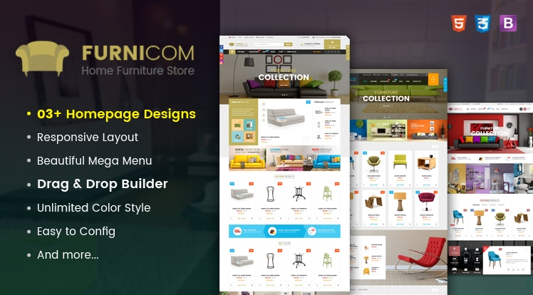 Ss Furnicom - Responsive Drag & Drop Shopify Furniture Theme