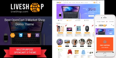 So LiveShop - Responsive Multipurpose OpenCart 3 Theme ( Mobile Layouts Included)