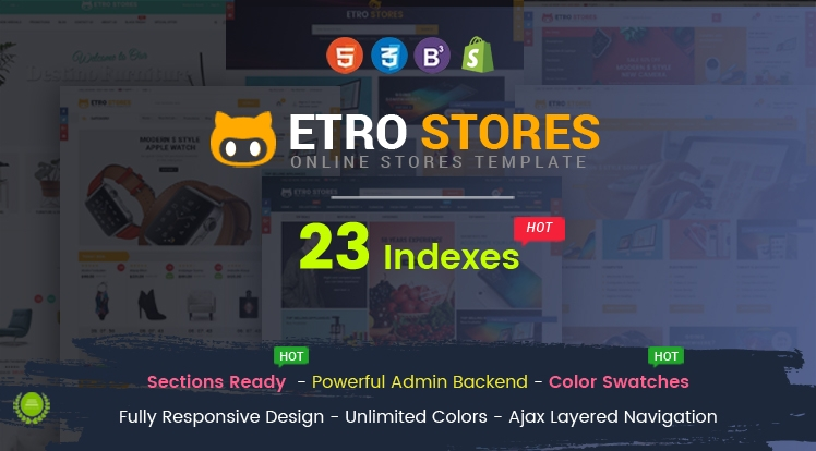 Ss EtroStore - Responsive Multipurpose eCommerce Shopify Theme