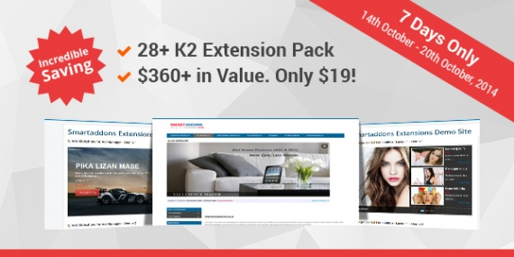 80th Template Celebration - Crazy Sale OFF 95% for The K2 Extensions Pack