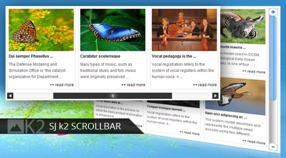 SJ Scrollbar for K2 - Joomla! Module